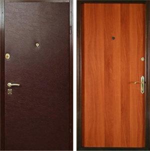 Входная металлическая дверь винилискожа + ламинат СП293