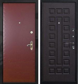 Входная металлическая дверь винилискожа + МДФ СП014